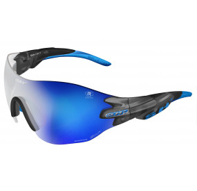 "SPORTGLASSES ""RG 5200 WX REACTIVE FLASH"" WHITE photocromic r.flash blue cat.1-3"