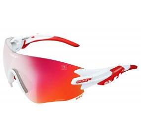 "SPORTGLASSES ""RG 5200 REACTIVE FLASH"" WHITE photocromic lens r.flash red cat.1-3"