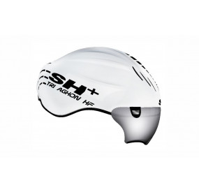 BIKE HELMET TRIAGHON HF GLOSSY WHITE/BLACK