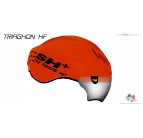 CASCO BICICLETTA TRIAGHON HF ARANCIO FLUO/NERO