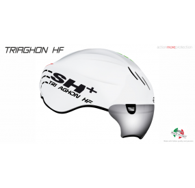CASCO BICICLETTA TRIAGHON HF BIANCO ITALIA