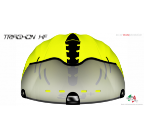 CASCO BICICLETTA TRIAGHON HF GIALLO FLUO/NERO