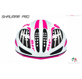 CASCO BICICLETTA SHALIMAR PRO BIANCO OPACO/ ROSA FLUO