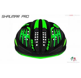 BIKE HELMET SHALIMAR PRO BLACK MATT/GREEN
