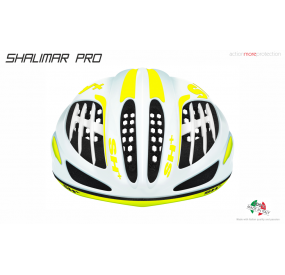 BIKE HELMET SHALIMAR PRO WHITE MATT/YELLOW FLUO