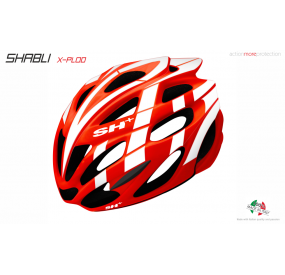 BIKE HELMET SHABLI X-PLOD RED/WHITE