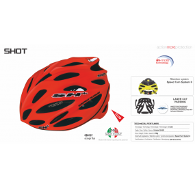 BIKE HELMET SHOT ORANGE FLUO - 55/60 - S/L