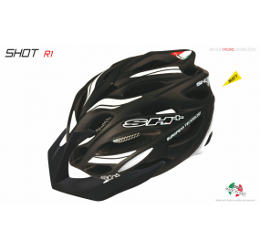 BIKE HELMET SHOT R1 BLACK MATT/WHITE