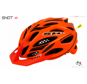 BIKE HELMET SHOT R1 ORANGE MATT/BLACK