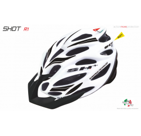 BIKE HELMET SHOT R1 WHITE MATT/BLACK