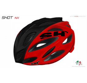 "BIKE HELMET  SHOT ""NX"" RED/BLACK/RED"