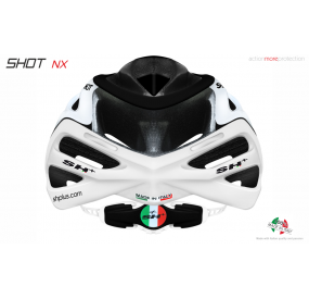 "BIKE HELMET  SHOT ""NX"" WHITE/BLACK/WHITE"