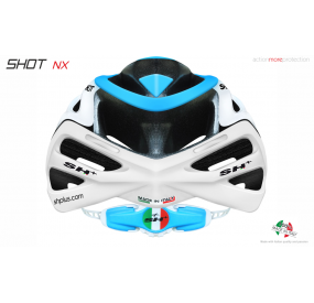 "BIKE HELMET  SHOT ""NX"" WHITE/BLUE/WHITE"
