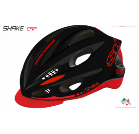 BIKE HELMET SHAKE CAP BLACK/RED