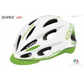 BIKE HELMET SHAKE CAP WHITE/GREEN LIME