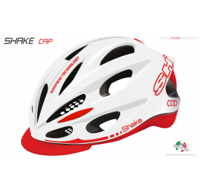 BIKE HELMET SHAKE CAP WHITE/RED