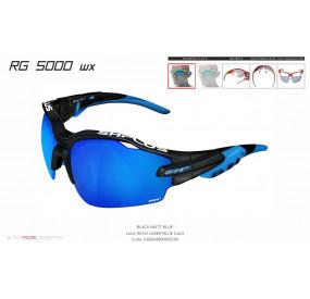 OCCHIALE SPORTIVO RG 5000 WX NERO/blu lente specchiata blu cat.3