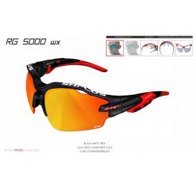 OCCHIALE SPORTIVO RG 5000 WX NERO/rosso lente specchiata rossa cat.3