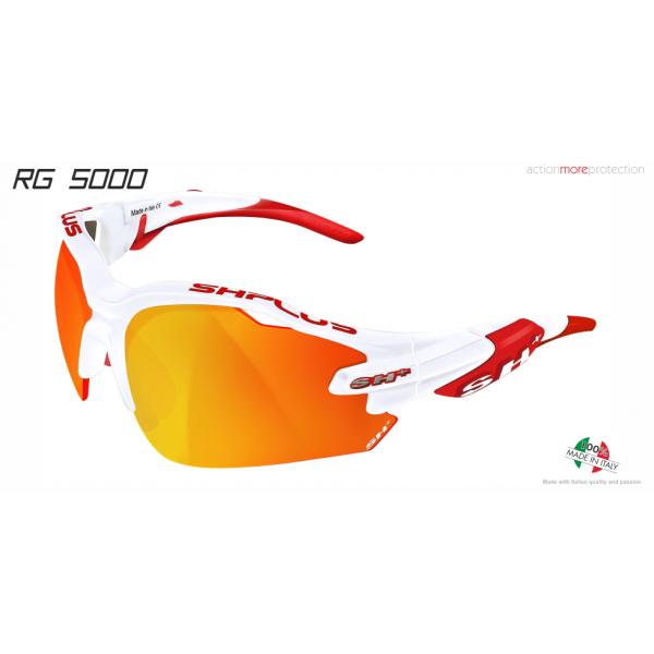 """MULTISPORT - GLASSES """"RG 5000"""" WHITE/red revo laser red cat.3"""