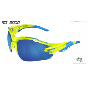 "MULTISPORT - GLASSES ""RG 5000""CRYSTAL YELLOW FLUO revo laser blue cat.3"