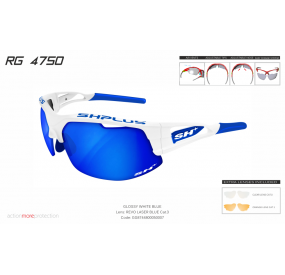 "MULTISPORT - GLASSES RG 4750"" WHITE/blue-ML REVO LASER BLUE""cat.3"
