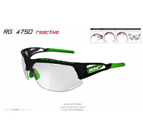 "MULTISPORT - GLASSES RG 4750 REACTIVE cat.0-2""BLACK MATT/GREEN"""