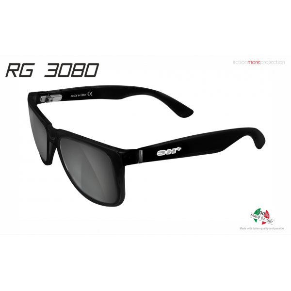 "SUNGLASSES ""RG 3080"" BLACK MATT lens SMOKE cat.3"