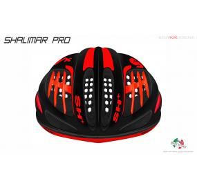 BIKE HELMET SHALIMAR PRO BLACK MATT/RED