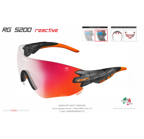 OCCHIALE SPORTIVO RG 5200 REACTIVE FLASH GRAFITE/arancione cat.1-3