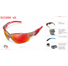 "MULTISPORT - GLASSES ""RG 5000 WX"" CRYSTAL SILVER revo laser red cat.3"