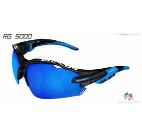 "MULTISPORT - GLASSES ""RG 5000"" BLACK MATT/blue revo laser blue cat.3"