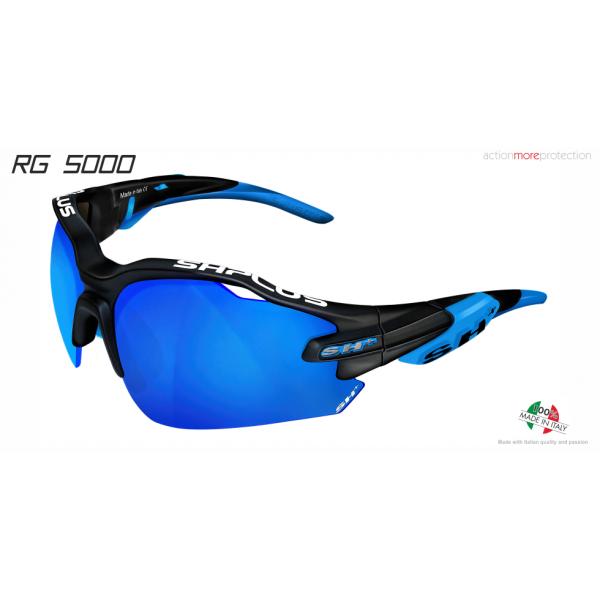 """MULTISPORT - GLASSES """"RG 5000"""" BLACK MATT/blue revo laser blue cat.3"""