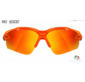 OCCHIALE SPORTIVO RG 5000 TRASPARENTE ARANCIONE lente specchiata rossa cat.3