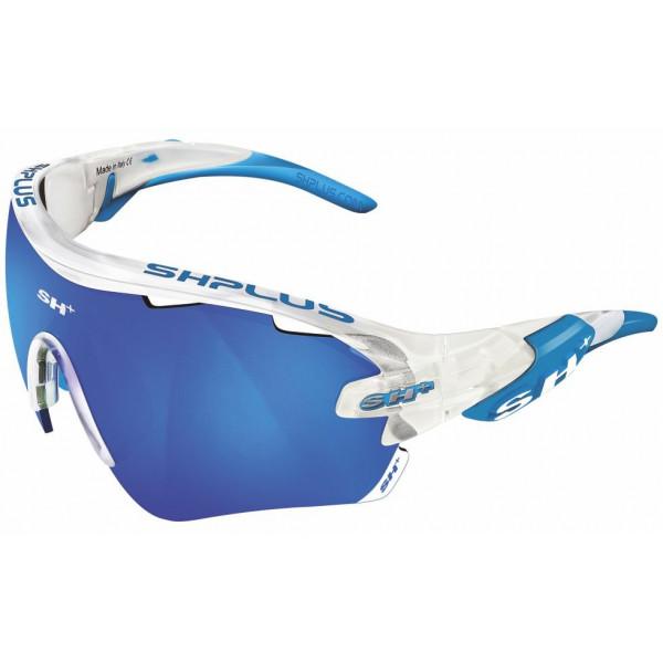 OCCHIALE SPORTIVO RG 5100 TRASPARENTE BIANCO lente specchiata blu cat.3