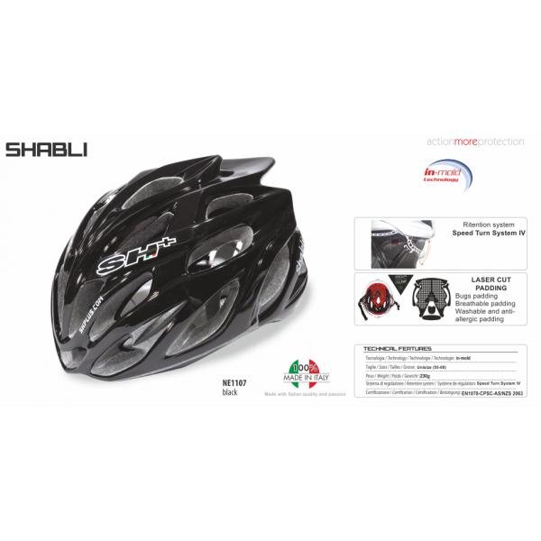 BIKE HELMET SHABLI BLACK - 55/60 - S/L