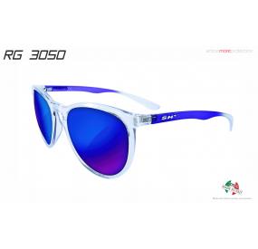 OCCHIALE LIFESTYLE RG 3050 TRASPARENTE BLU lente SPECCHIATA BLU cat.3