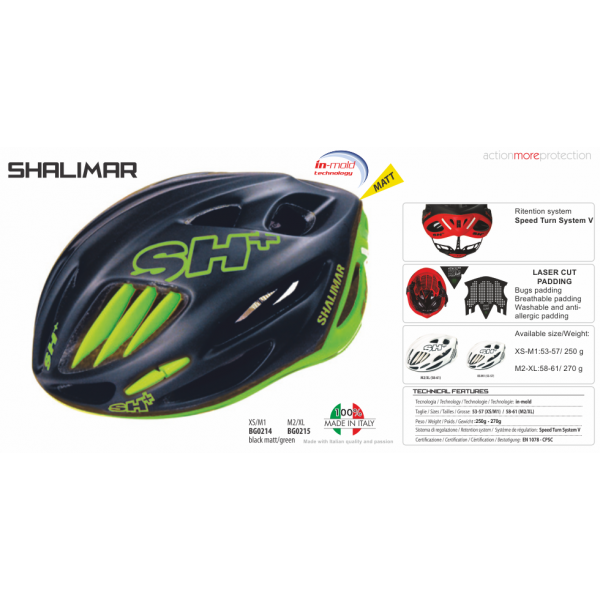 BIKE HELMET SHALIMAR BLACK MATT/GREEN