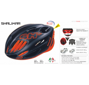 BIKE HELMET SHALIMAR BLACK MATT/ORANGE