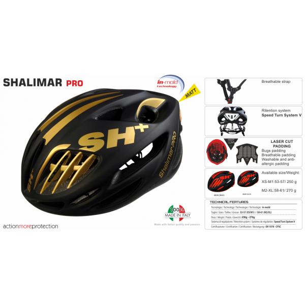 BIKE HELMET SHALIMAR PRO BLACK MATT/GOLD