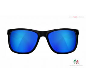 "SUNGLASSES ""RG 3080"" BLACK MATT lens REVO BLUE cat.3"