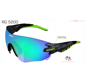 "SPORTGLASSES ""RG 5200"" GRAPHITE revo laser green cat.3"