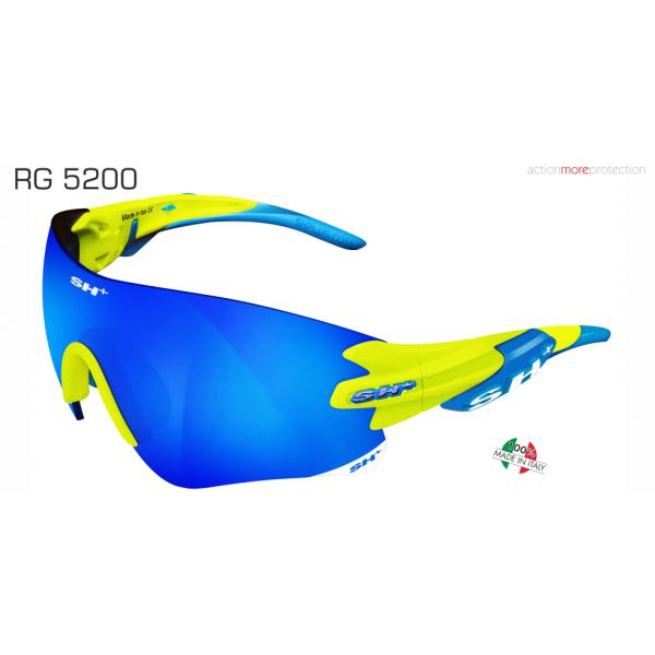 "OCCHIALE SPORTIVO RG 5200 YELLOW revo laser blue cat.3"""
