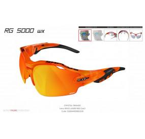 OCCHIALE SPORTIVO RG 5000 WX TRASPARENTE ARANCIONE/nero lente specchiata rossa cat.3