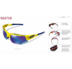 "MULTISPORT - GLASSES RG 4750"" YELLOW-ML REVO LASER BLUE"""