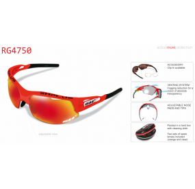 "MULTISPORT - GLASSES RG 4750"" ORANGE-ML REVO LASER RED"""