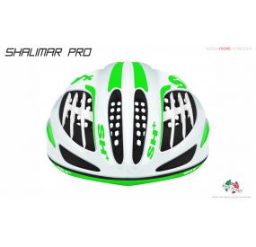 BIKE HELMET SHALIMAR PRO WHITE MATT/GREEN