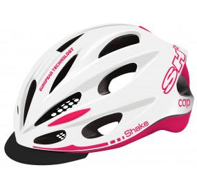 BIKE HELMET  SHAKE CAP WHITE/pink