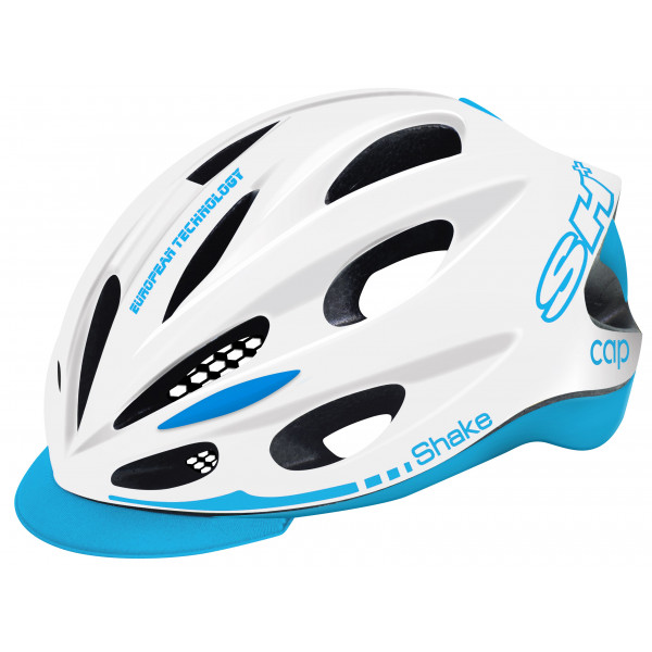 BIKE HELMET SHAKE CAP WHITE/light blue