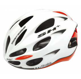 BIKE HELMET SHAKE WHITE/RED