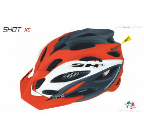 BIKE HELMET SHOT XC ORANGE/WHITE/BLACK